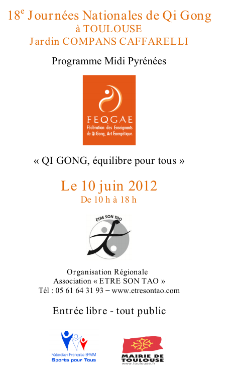 journee nationale qigong Journée nationale de Qi Gong à Toulouse